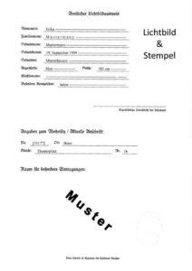 Staatsangehörigkeitsausweis MUSTER Rückseite (aktuelle Version)