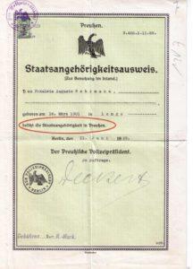 Staatsangehrigkeitsausweis Preußen Original 1929